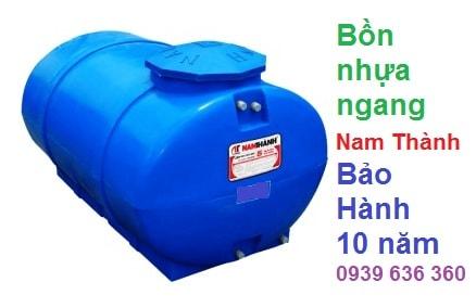 bồn nhựa 1500l ngang Nam Thành