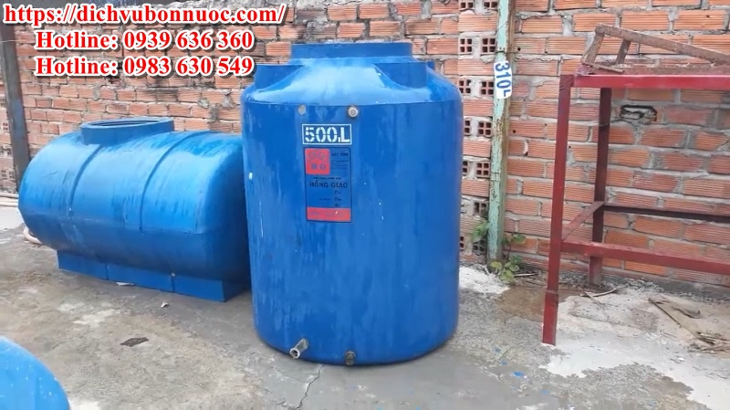 Bồn nước nhựa 500 lít cũ còn tốt giá rẻ