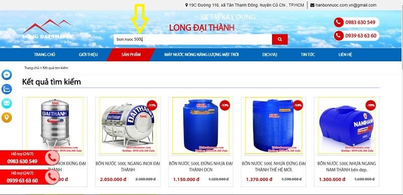 Quy trình mua hàng từ trang Website