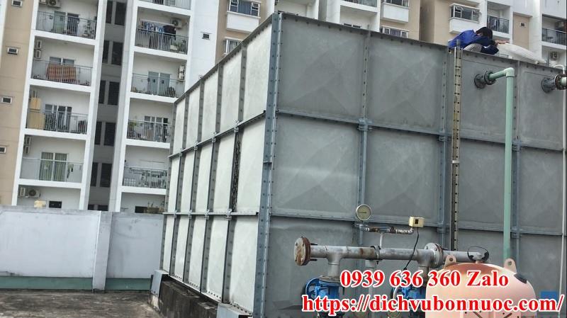 Sửa chữa bồn nước công nghiệp - Lắp ghép tại chung cư